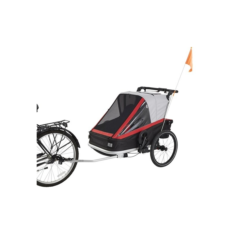 Jalgratta järelvanker 3in1 - jalgratta treiler, jooksukäru, lapsevanker. 2 istet.
