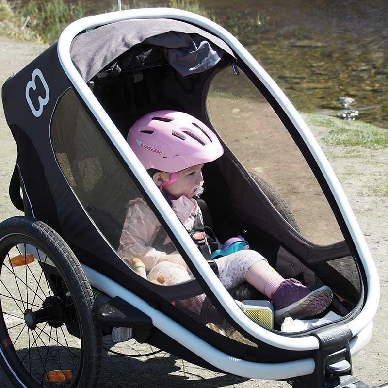 Hamax jalgratta järelkäru ja lapsevanker OUTBACK, 1 iste, hall