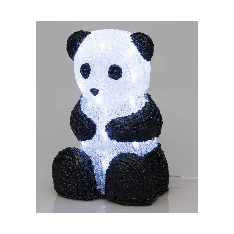 Finnlumor akrüülist panda 27cm, 30LED
