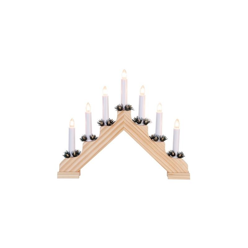 Advendi küünlajalg ADA, 7XE10 tuld, naturaalne puit