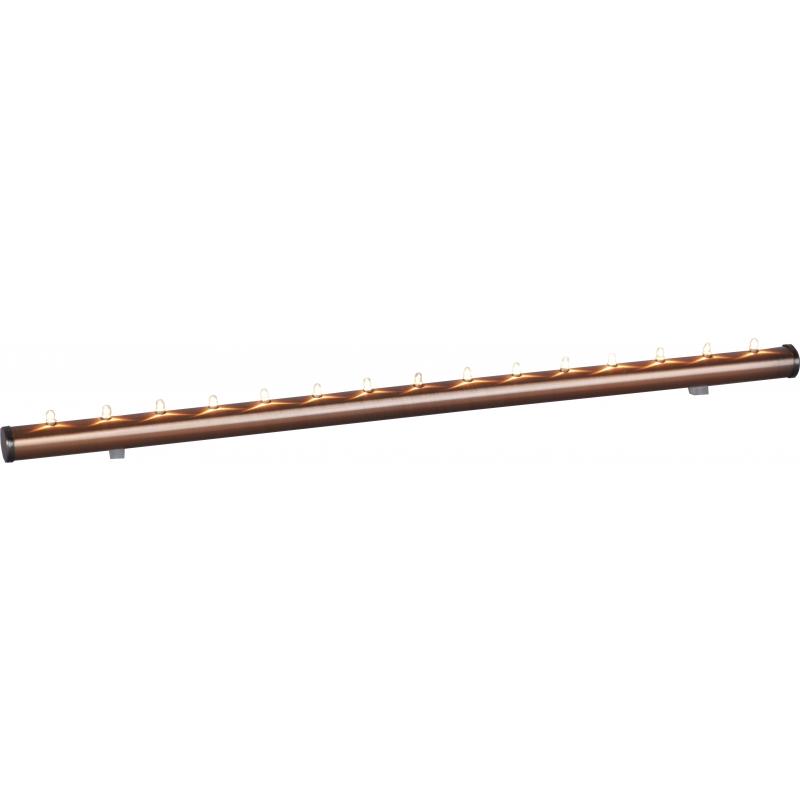 Adv.küünlajalg Light Flute, 58x3,5cm, 12V 15xE5 mikropirnid, vaskne, IP20