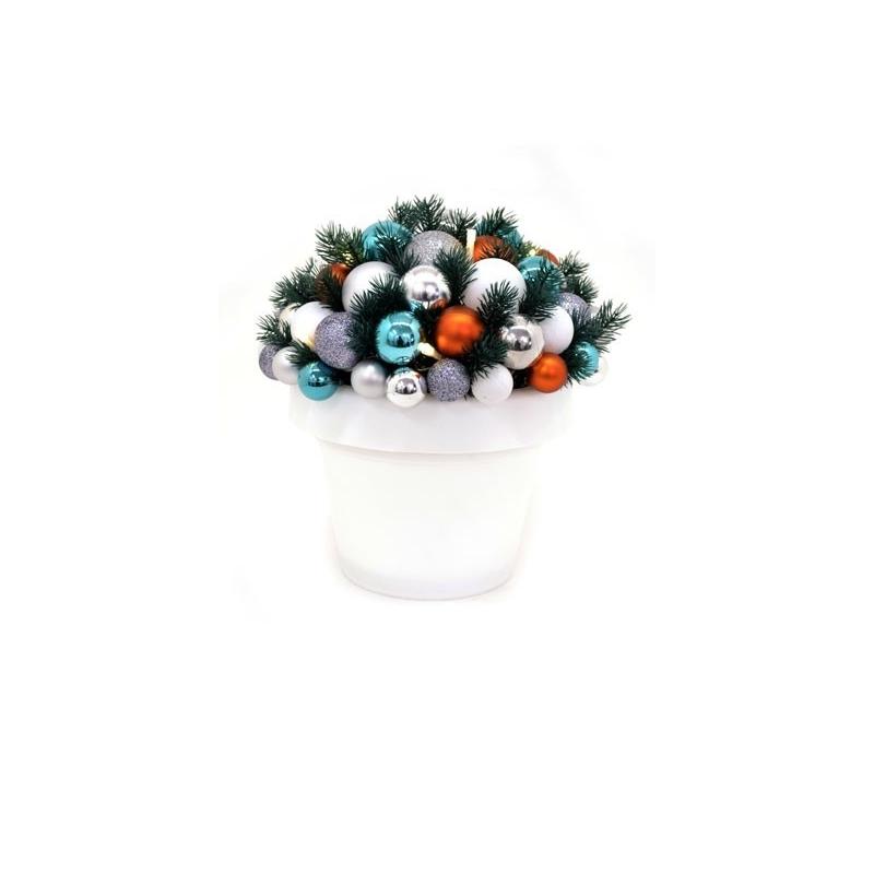 Jõulu deco Flashy, kõrgus 35 cm, 10 LED tulega  valge/kirju /6