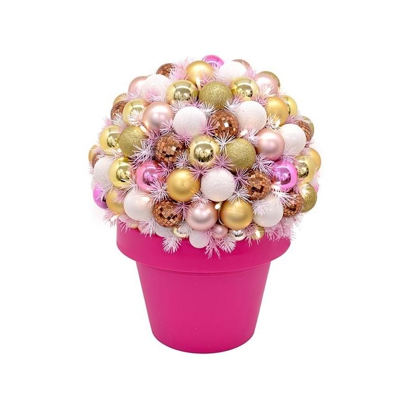 Jõulu deco Flashy, kõrgus 50 cm, 35 LED tulega valge/roosa /1