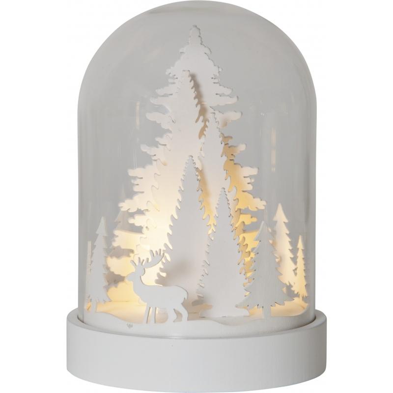 Lauadekoratsioon Valge mets, 3 LED, patareitoide, sisetingimustesse IP20