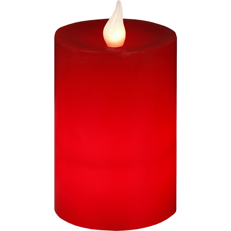 LED küünal vahast, punane, 2 soe-valge LED, IP20