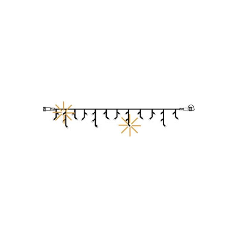 Jääpurika kett vilkuv, System24 EXTRA , 49 LED, soe valge, 3*0,4m, IP44