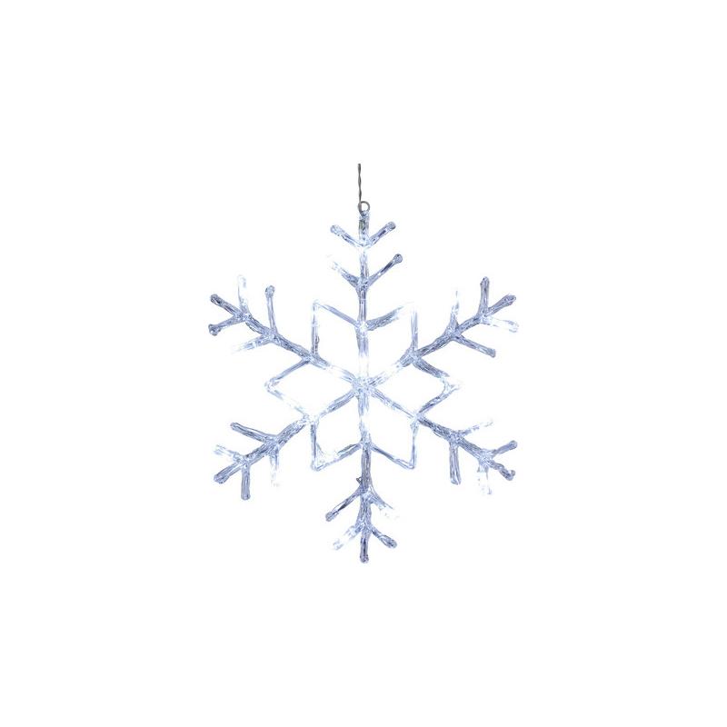 Lumehelves riputatav Antarctica, Ø40cm, 24 LED, külm-valge 230V-24V DC, IP44