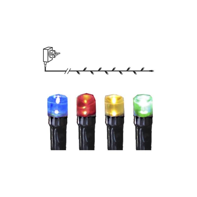 MICRO LED tuledekett 8 funktsiooniga, 120 tuld, värviline, pikkus 7,2m IP44