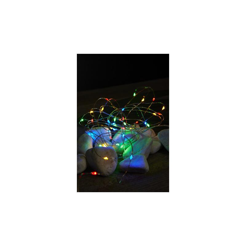 """Tuledekett """"Kastepisar"""" multi 40 LED tuld, hõbedane, 4m. Taimer 6h ON/18h OFF, pat.3xAA (ei kuulu kompl), or. 100h"""
