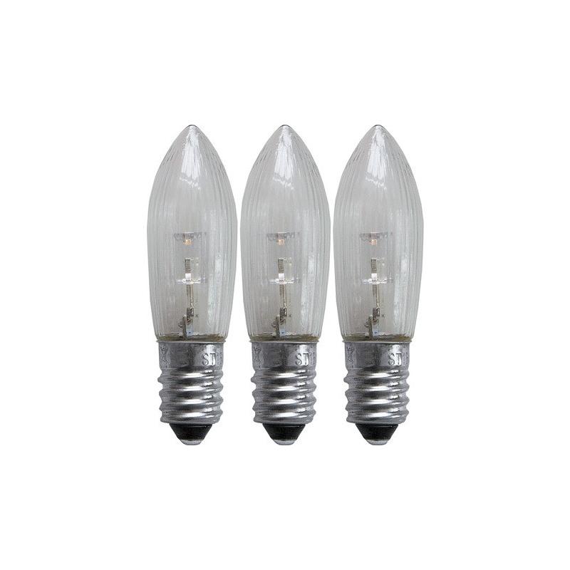 Pirn LED universal 3tk, 0,2W, 23-55V, E10, läbipaistev 10/200