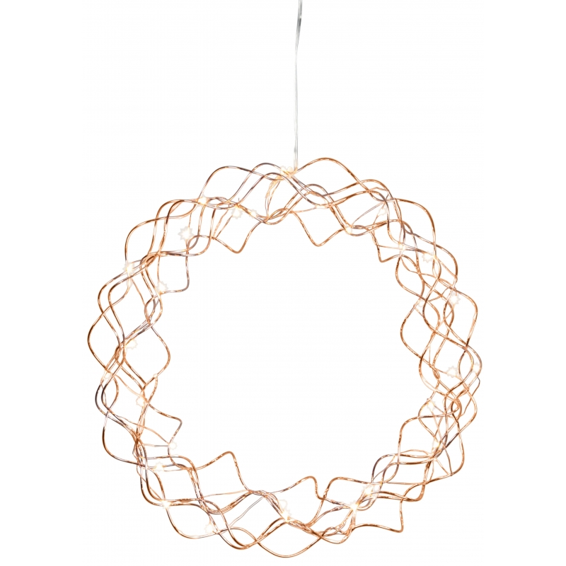 "Vasevärvi pärg ""Curly"", Ø30x6cm, 30 Led, 230V - 3VDC, IP20"