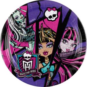 Monster High 2 taldrik 23cm/8tk.