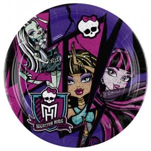 Monster High 2 taldrik 18cm/8tk.