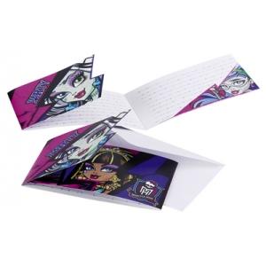 Monster High 2 kutsekaardid+ümbrik 6tk/pk.