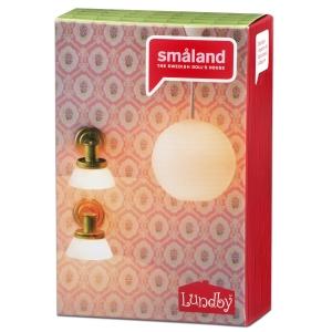Lundby Riisilamp + seinalambid