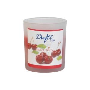 Lõhnaküünal satineeritud klaasis 77 x 70 mm Cherry /4