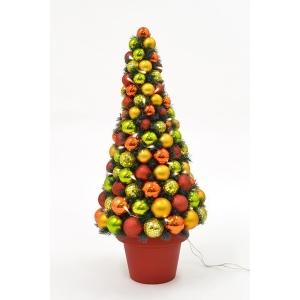 Jõulu deco Flashy, püramiidi kujuline, kõrgus 80 cm, 50 LED tulega kuldne/punane/roheline /1