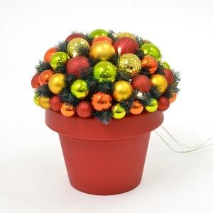 Jõulu deco Flashy, kõrgus 35 cm, 10 LED tulega  kuldne/punane/roheline /6
