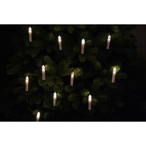 20 LED tulega küünlad, vahe 40cm, soe valge