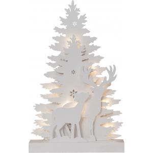 Lauadekoratsioon Fauna Valge, 10 LED, patareitoide, sisetingimustesse, IP20