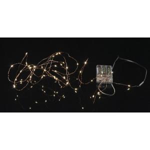 Valguskett Kastepisar, 40 LED, vaskne, pikkus 3,9m, taimer 6h ON/18h OFF, pat. 3xAA (ei kuulu kompl), or. 100h,IP20