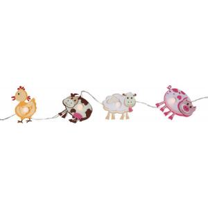 Küünlakett loomadega 8x3,5cm, 8 LED tuld, pikkus 1,4m, taimer 6h ON/18h OFF, pat. 3xAA (ei kuulu kompl.), or.tööaeg 80h