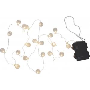 Valguskett 20 LED pallikesega, 1,6m, patareitoide, sise/välis, IP44