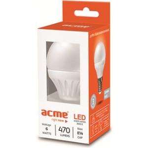 ACME LED Globe 6W, 2700K 470lm, E14