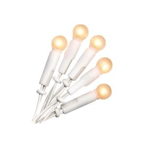 Valguskett pallikujuliste lampidega, 20 valget tuld, keti pikkus 285cm IP20