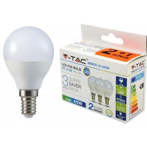 LED lamp 3-pakk, E14 Globe/5,5W/470lm