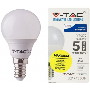 LED lamp E14/7W/600lm/Globe