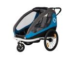 Hamax jalgratta järelkäru ja lapsevanker TRAVELLER, 2 istet,sinine/hall