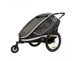 Hamax bicycle trailer and pram OUTBACK, 2 seats, gray