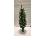 Artificial spruce on a vase-shaped podium 165 cm. 100 LED lights. Half-price sale of the sample month!