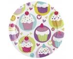 Cupcake Plates 23cm 8pcs / pack