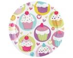 Cupcake Taldrikud 18cm 8tk/pk