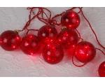 Light chain Vesta, 9 Led, red 2.4m, bulb spacing 30cm, 230V-24V DC, IP20
