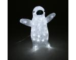 Acrylic Penguin with 40 white LED lights / 4 29 * 16 * 31cm