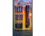 "Ansmann alkaline patareid ""X-Power"" 12 x AA + taskulamp 0,5w LED 14h/30m metall korpus IP54 EOL"