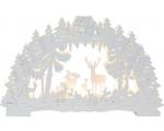 Küünlajalg Fauna, 42x26x5,5cm, puidust, valge, 10 LED-tuld, 230V, IP20