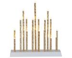 Adv.küünlajalg Trix, 27x29cm, 19 LED-tuld taimer (6+18h tsükkel), patareitoide (3xAA, mitte kaasas), kuldne, IP20