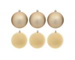 Spruce jewelry-balls 6pcs 10cm Golden 12/24