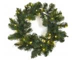 Spruce wreath 45cm 60 tops, 30 LED lights