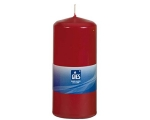 Table candle 80x48mm, burning time 15h, ruby / 10