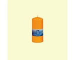 Table candle 100x58mm, burning time 28h, orange / 6