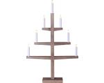 Küünlajalg Tripp, puidust, pruun, 49x76x10cm, 7 tuld, 230V, E10, 230V, IP20