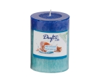 Lõhnasteariin-lauaküünal 90x68mm 2-värviline Sea Breeze, sinine
