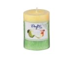 Lõhnasteariin-lauaküünal 90x68mm 2-värviline Sweet Apple, roheline
