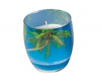 Scented candle in decorative glass, Bahamas B