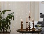 """Valguskardin """"Kastetilgad"""" 100 LED valge tuld, 10 riba, mõõdud 1x1m, sisetingimustesse IP20"""